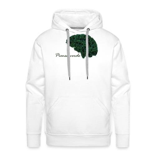 Piensa verde - Sudadera con capucha premium para hombre