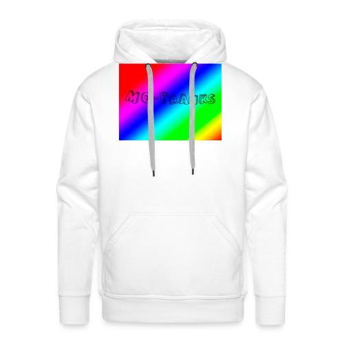 MO-Pranks rainbow - Premium hettegenser for menn