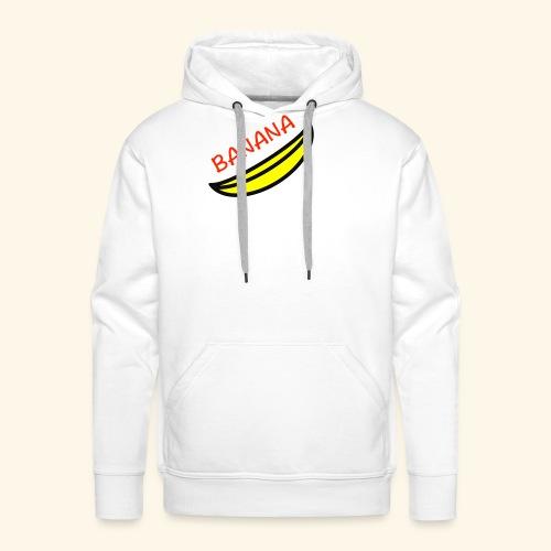 banana - Felpa con cappuccio premium da uomo