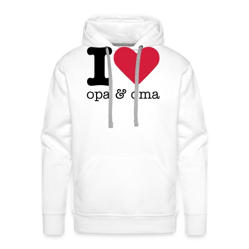 I Love Opa & Oma - Mannen Premium hoodie