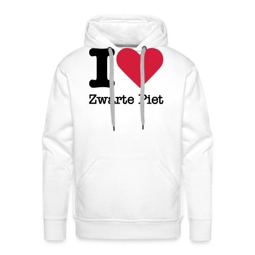 I Love Zwarte Piet - Mannen Premium hoodie