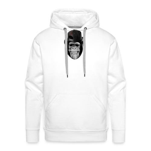 Logo Crazy Monkey - Felpa con cappuccio premium da uomo