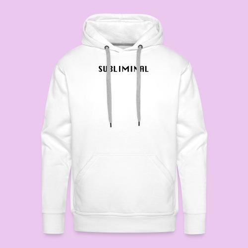 SUBLIMINAL LOGO - Sweat-shirt à capuche Premium pour hommes