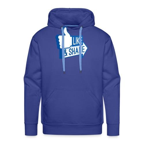Like & Share (Facebook) - Felpa con cappuccio premium da uomo