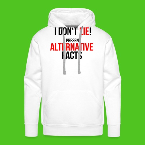 alternative_facts_black2 - Männer Premium Hoodie