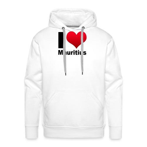 ilovemauritius - Sweat-shirt à capuche Premium pour hommes