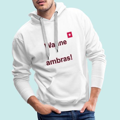 Wanne ambras verti mr def b - Mannen Premium hoodie