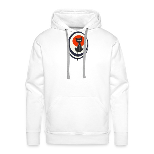 Schwarzer Kater - weiß - Männer Premium Hoodie
