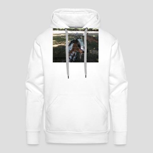 chèvre face - Sweat-shirt à capuche Premium pour hommes