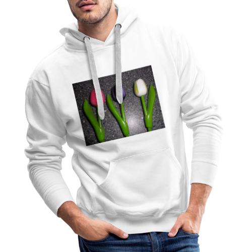 Bunte Holz Blumen - Männer Premium Hoodie
