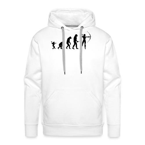Evolution of Human to a Archer - Männer Premium Hoodie
