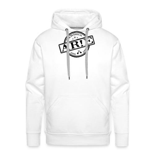 Backdrop AR E stempel zwart gif - Mannen Premium hoodie
