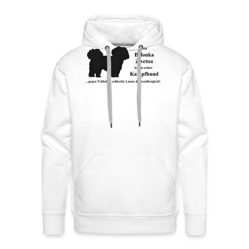 Bolonka Zwetna mit schwarzer Schrift - Männer Premium Hoodie