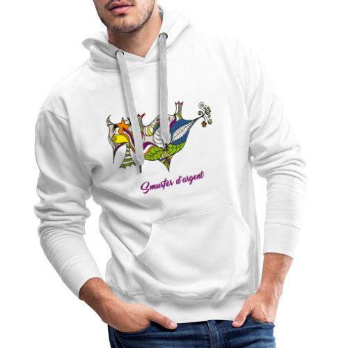 Smurfer d'argent - Sweat-shirt à capuche Premium pour hommes