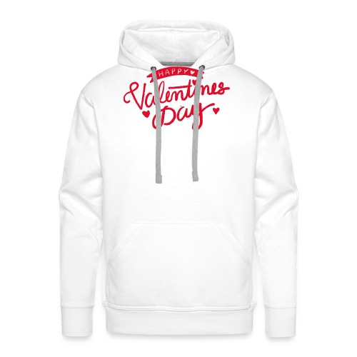 Happy Valentines Day - Sweat-shirt à capuche Premium pour hommes