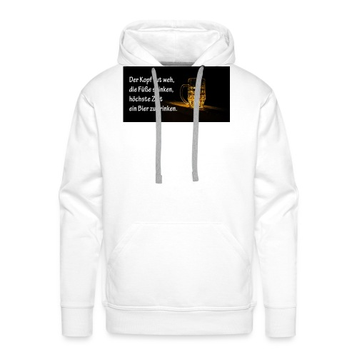 Bier Sprueche - Männer Premium Hoodie