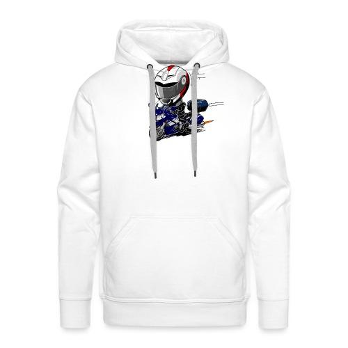 FJR OceanBlue helm en kofferset - Mannen Premium hoodie