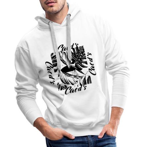 Feuilles tropical - Sweat-shirt à capuche Premium pour hommes