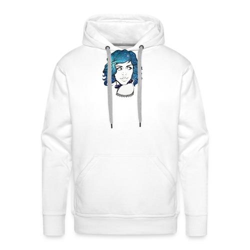 Portrait galaxie bleu - Sweat-shirt à capuche Premium pour hommes
