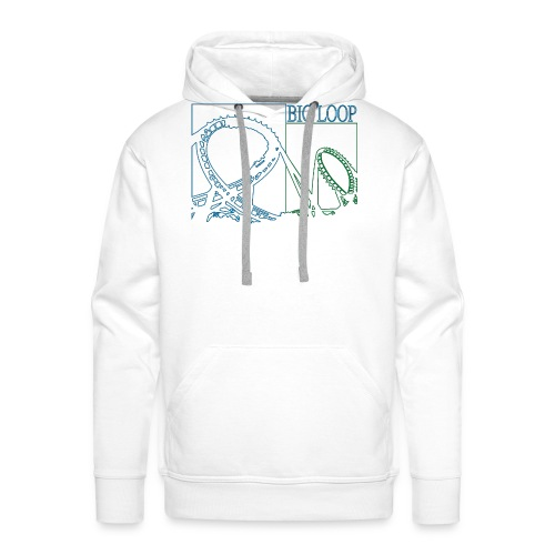 big_loop_coaster_shirt_line - Männer Premium Hoodie