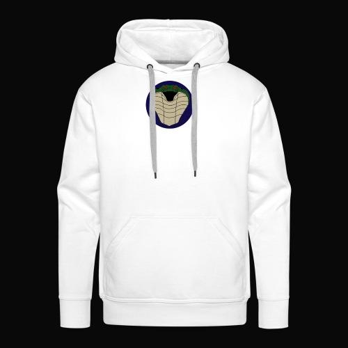 visite kaartje logo - Sweat-shirt à capuche Premium pour hommes