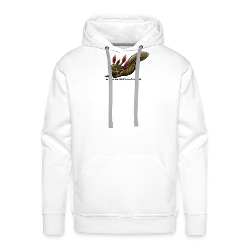 Axolotlshirt Männlein 1.png - Männer Premium Hoodie