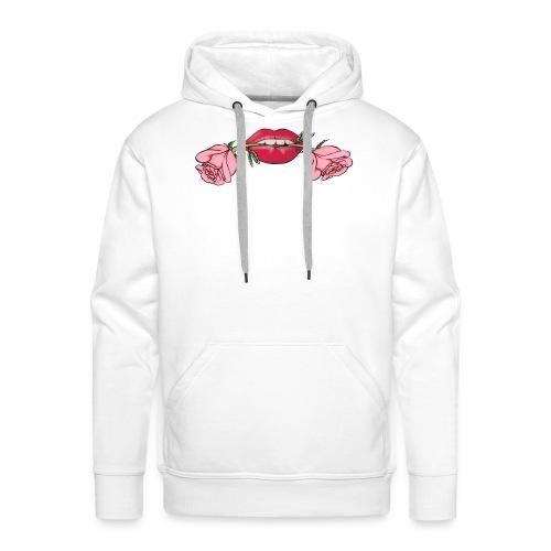 rose-dans-la-bouche - Sweat-shirt à capuche Premium pour hommes