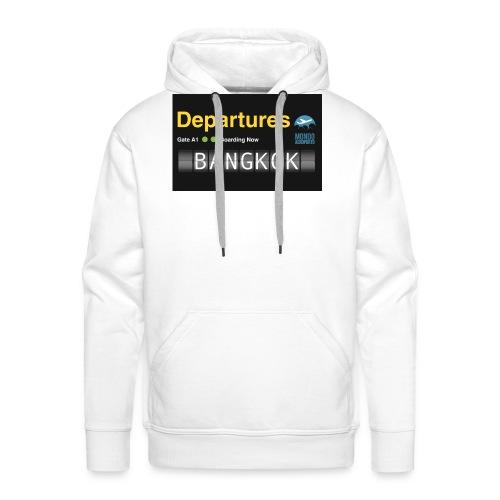 Departures BANGKOK jpg - Felpa con cappuccio premium da uomo
