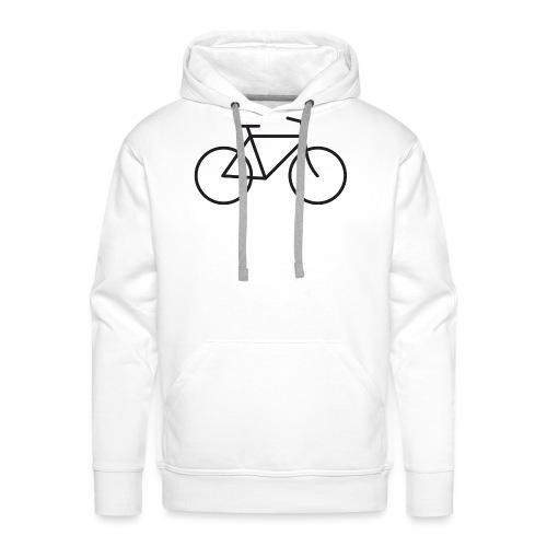 Bicycle black - Polkupyörä musta - Miesten premium-huppari