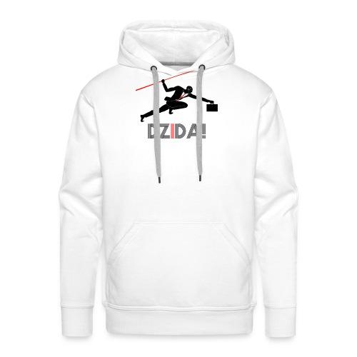 Dzida_wzor_czarny - Bluza męska Premium z kapturem