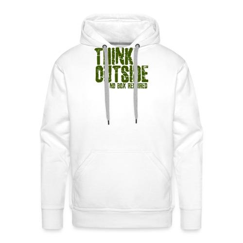 THINK OUTSIDE - Mannen Premium hoodie