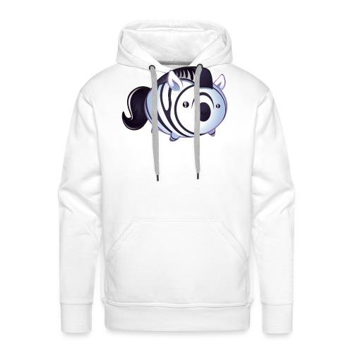 zèbre kawaii - Sweat-shirt à capuche Premium pour hommes