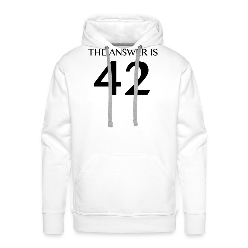 The Answer is 42 Black - Men's Premium Hoodie