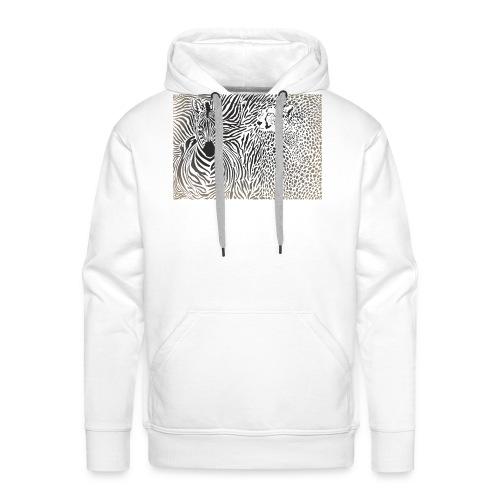 Zebra und Gepard und Musterhintergrund - Männer Premium Hoodie