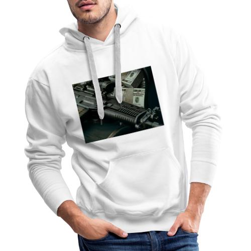 money and gun - Männer Premium Hoodie