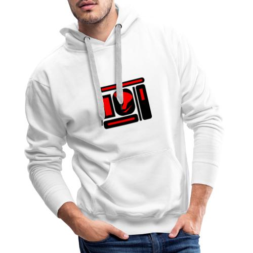 black and red hot P - Männer Premium Hoodie