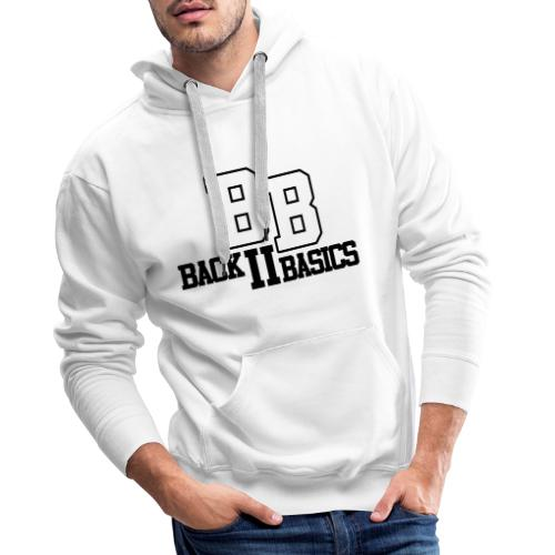 Logo Back To Basics 1 couleur vectorise - Sweat-shirt à capuche Premium pour hommes