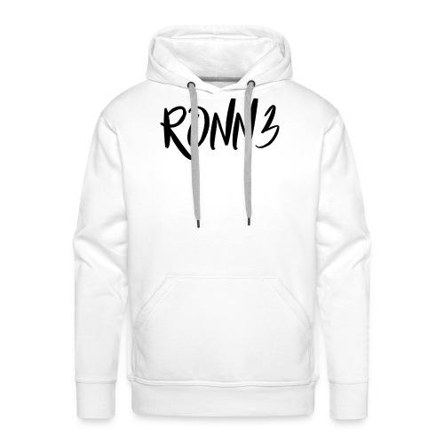 RONN3 - Sweat-shirt à capuche Premium pour hommes