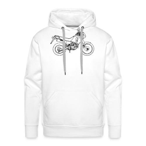 NX250 zijaanzicht zwart - Mannen Premium hoodie