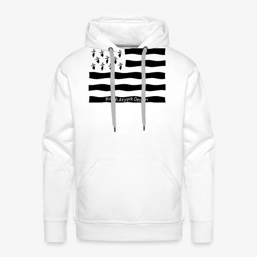 Gwenn ha Du-Noir fond transparent - Sweat-shirt à capuche Premium pour hommes