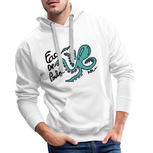 Face de Poulpe - Sweat-shirt à capuche Premium pour hommes