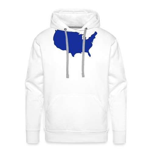 usa map - Men's Premium Hoodie