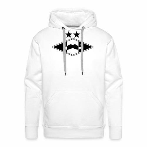 Mustache logo - Premium hettegenser for menn