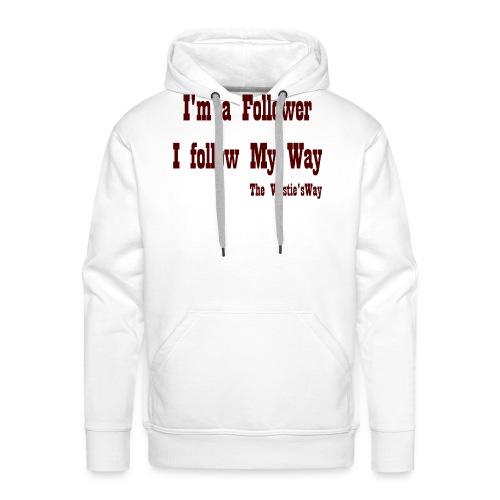 I follow My Way Brown - Bluza męska Premium z kapturem