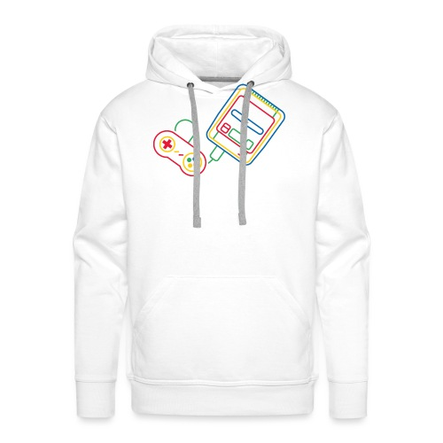 Super NES - Couleur - Sweat-shirt à capuche Premium pour hommes