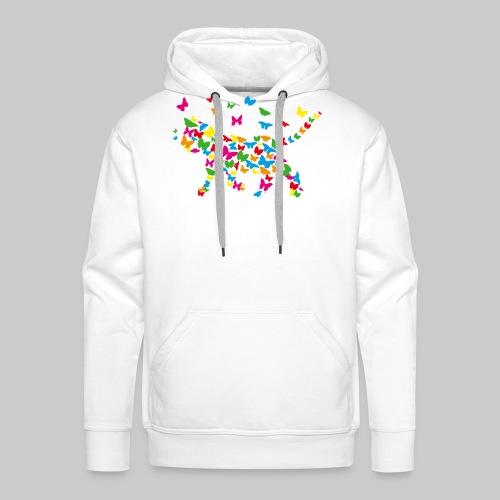 chat-papillon - Sweat-shirt à capuche Premium pour hommes