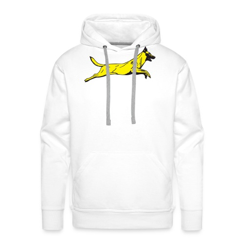 jumping dog malinois - Mannen Premium hoodie