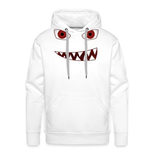 smiling devil emoticon grinning red demon - Männer Premium Hoodie