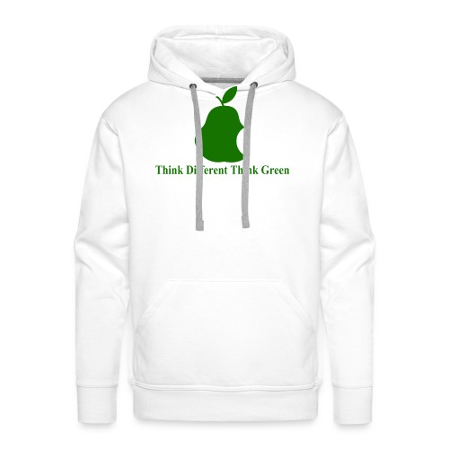 Think different, think green II - Sweat-shirt à capuche Premium pour hommes