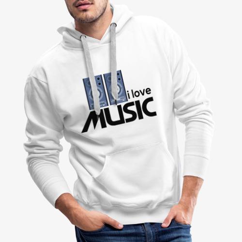 Amo la música 01 - Sudadera con capucha premium para hombre